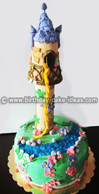 rapunzel cake, tangled birthday cake